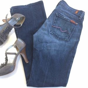 7 For All Mankind Jeans w/ Pink Pocket Stitching